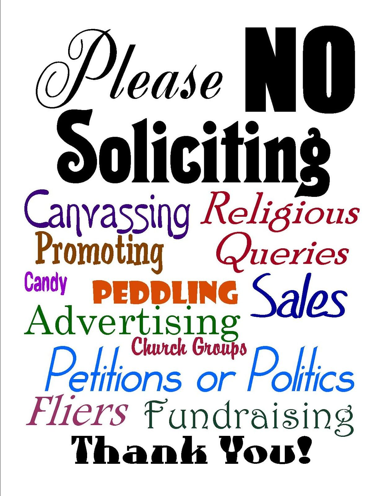 Rude No Soliciting Signs Bing Images