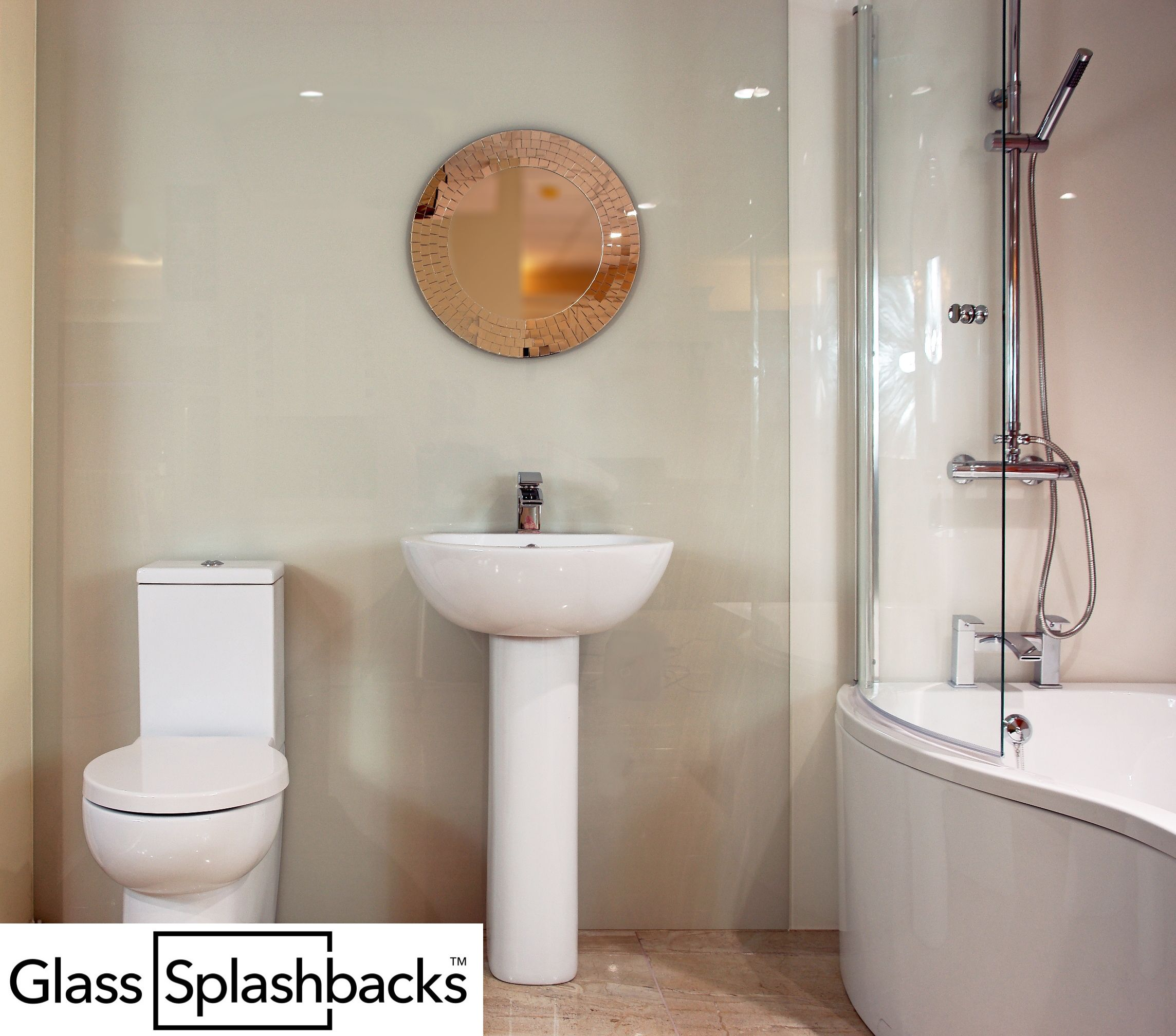 Glass wall bathroom. We create beautiful glass bathrooms, including ...
