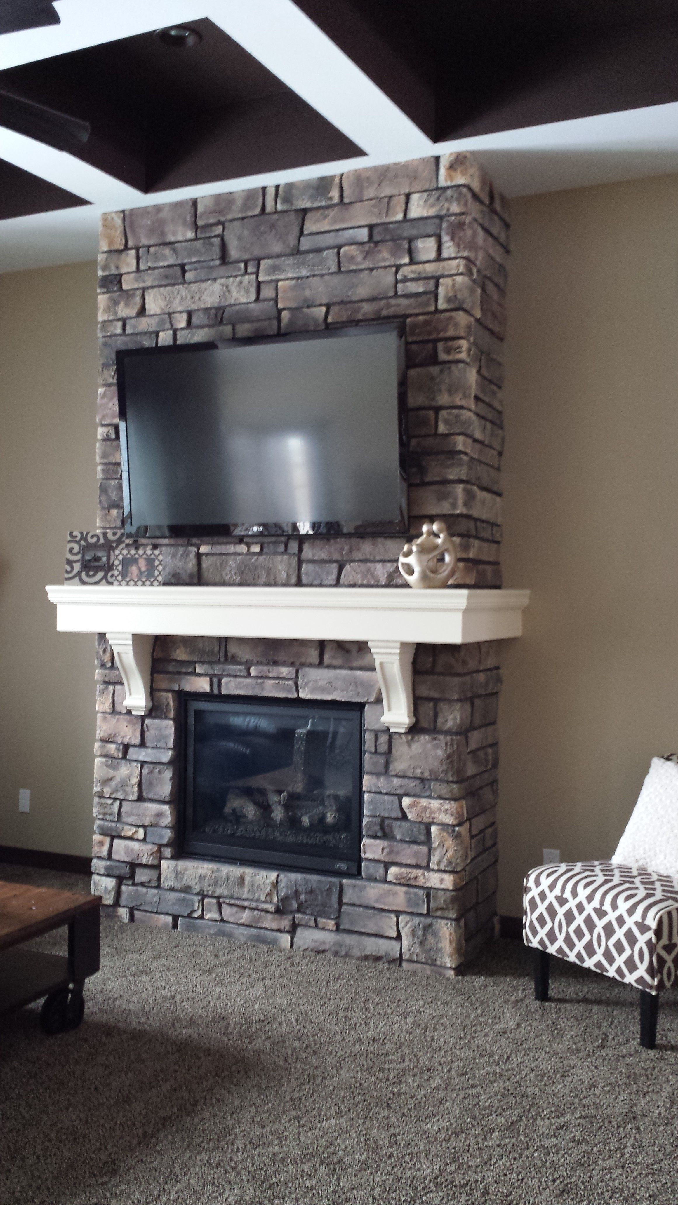 Boral Wolf Creek Country Ledgestone Fireplace Living Room In 2019