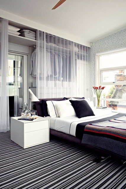 Behind The Bed Wardrobe - Small Bedroom Storage Ideas (houseandgarden.co.uk) & 23 storage solutions for small spaces | Small Space Decorating ...