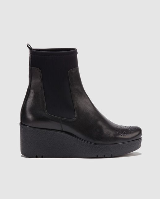 88003118 Botines de mujer Wonders negras con cuña | Accessories | Zapatos ...