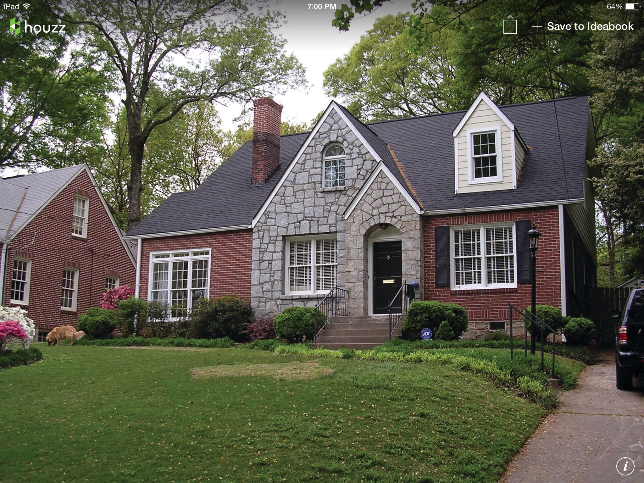 Red Brick With Stone Gable Red Brick House Exterior Brick Exterior House Red Brick House