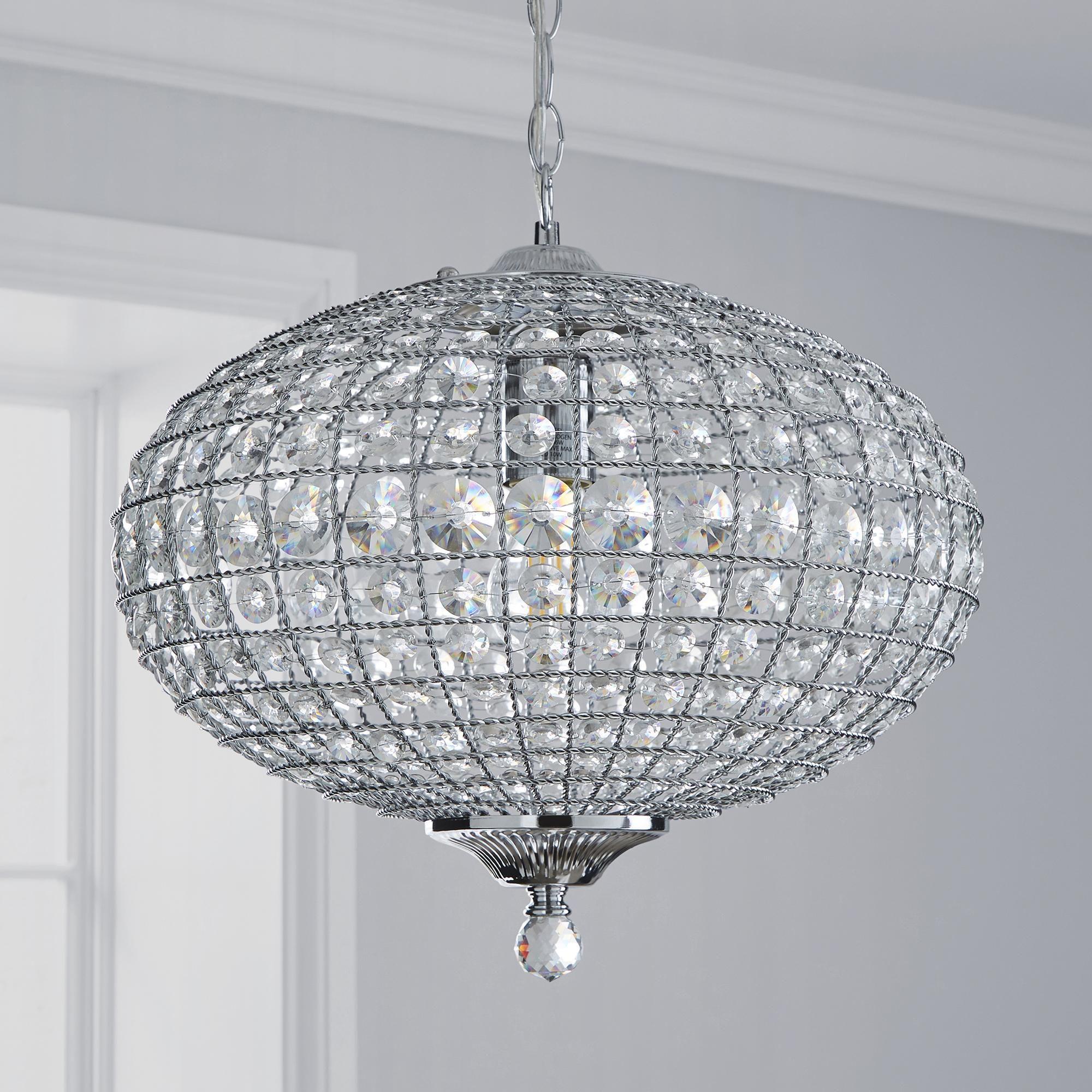 Felicity 1 Light Pendant Jewel Chrome Ceiling Fitting In 2020 Ceiling Lights Light Fittings Ceiling