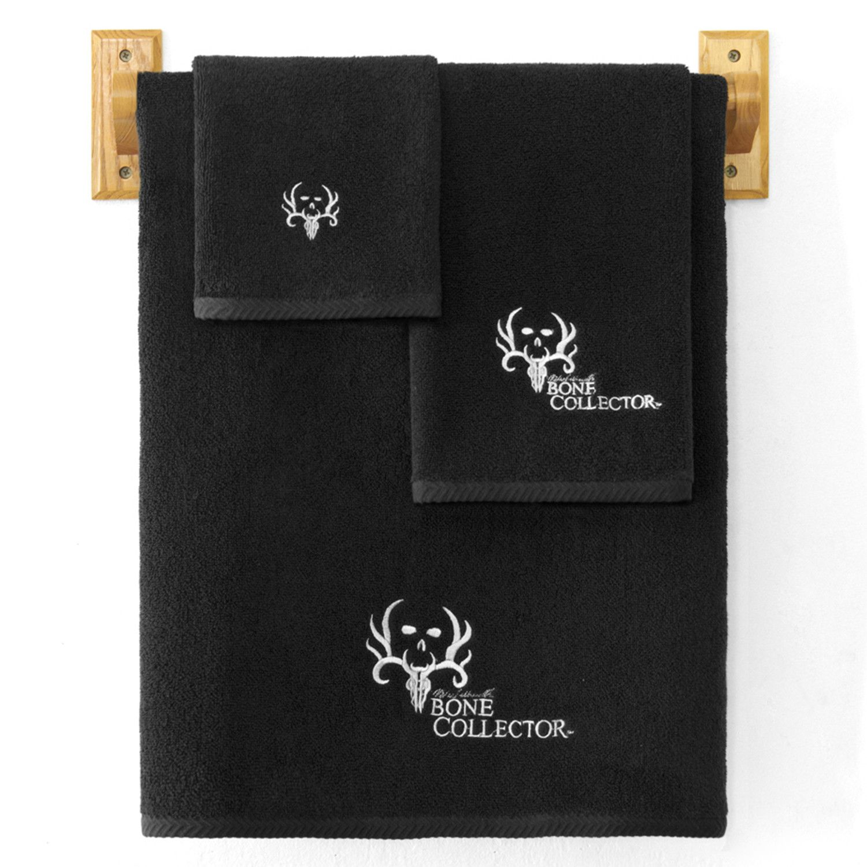 Bone Collector Black Hand Towel Hand Towels Bath Accessories