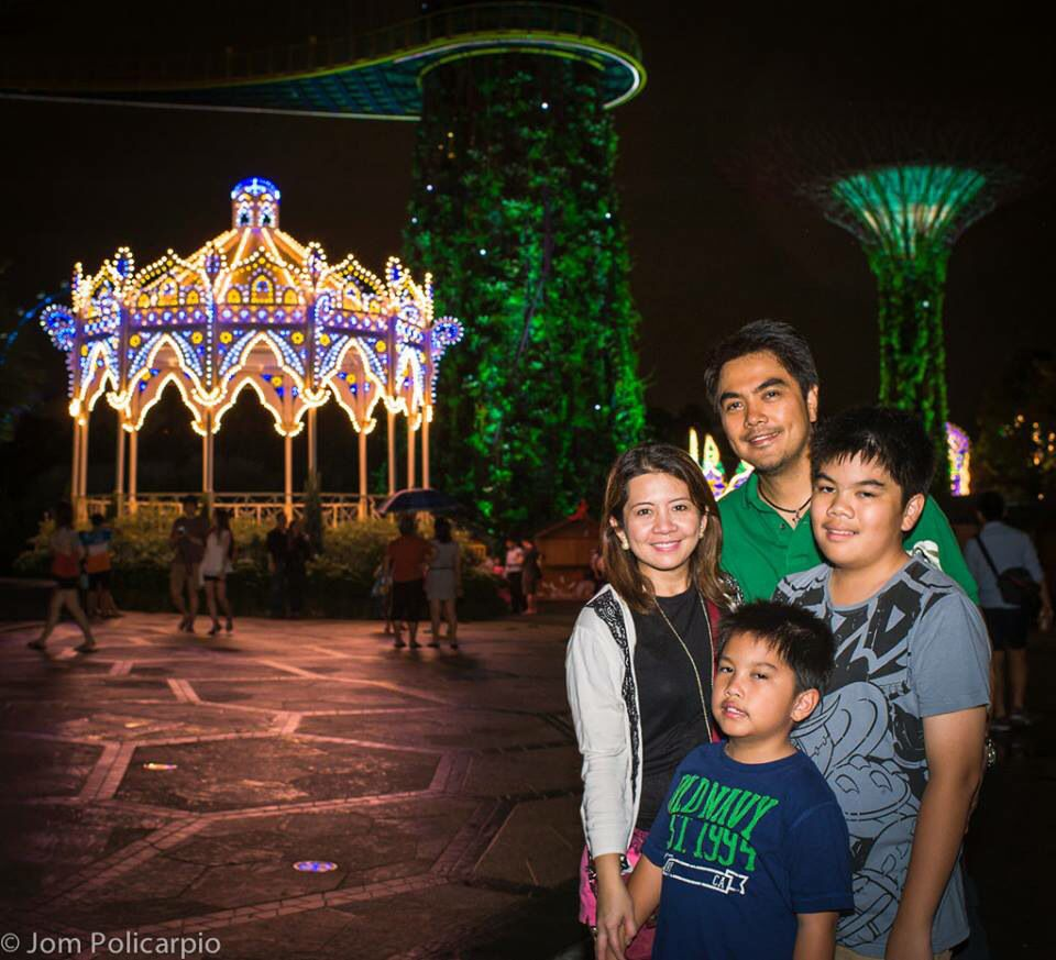 Christmas in sunny Singapore - SuperTree Grove, Gardens by the Bay