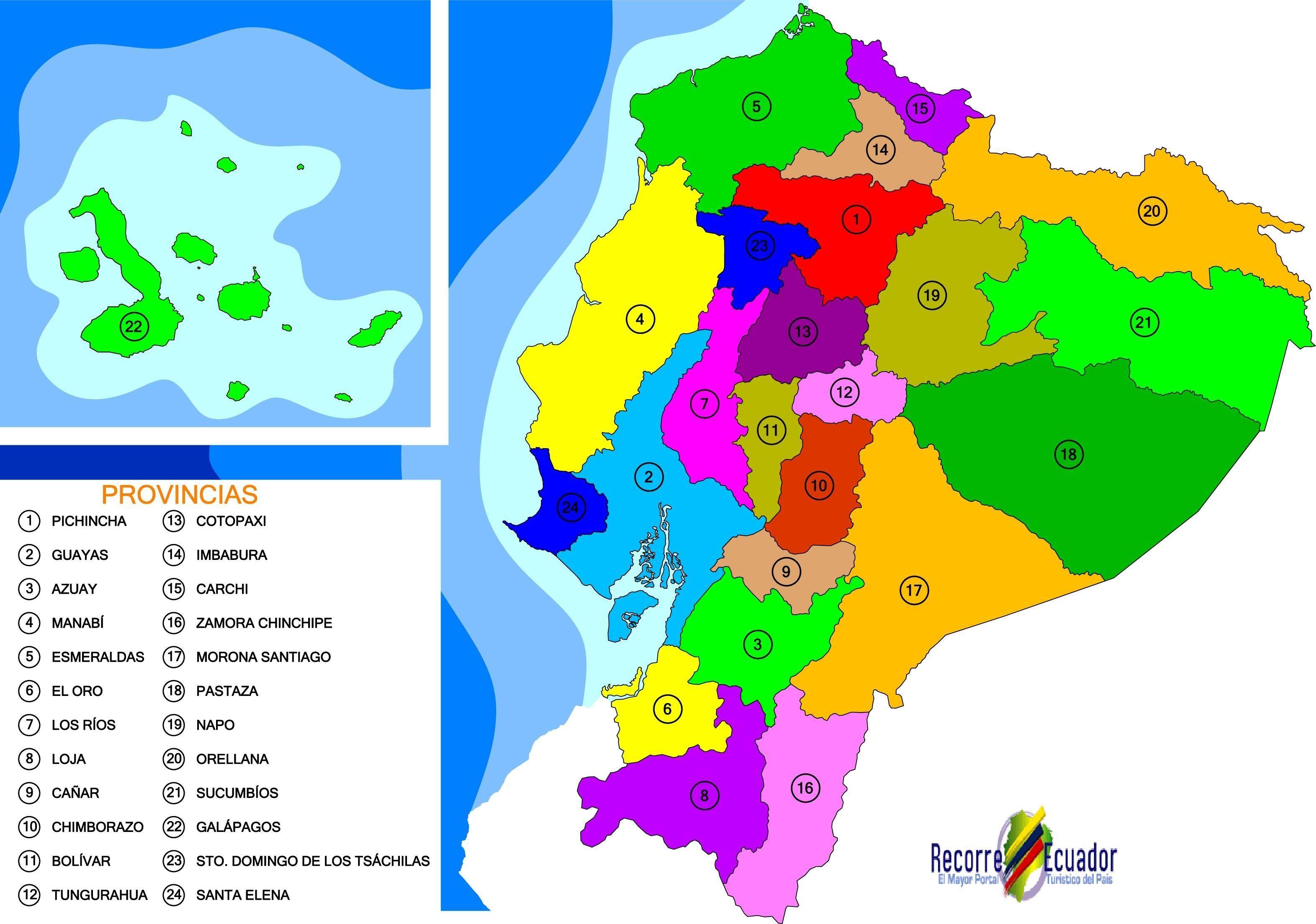 political map of Ecuador cities ecuador Pinterest Ecuador