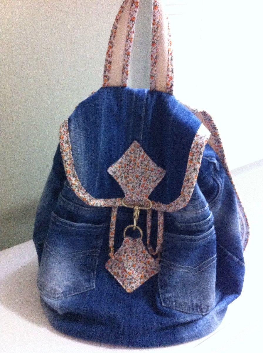 costo moderado navegar por las últimas colecciones garantía limitada Mochila de Calça Jeans Reciclada | bolsos | Calça jeans ...