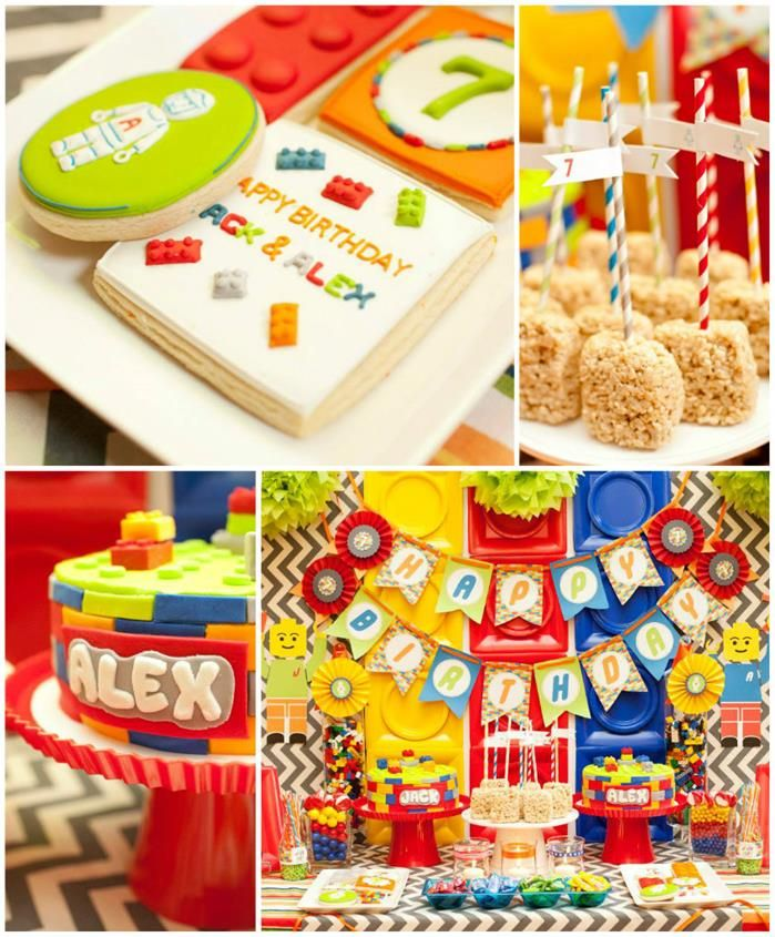 Twins' Lego Themed Birthday Party with Such Awesome Ideas via Kara's ...