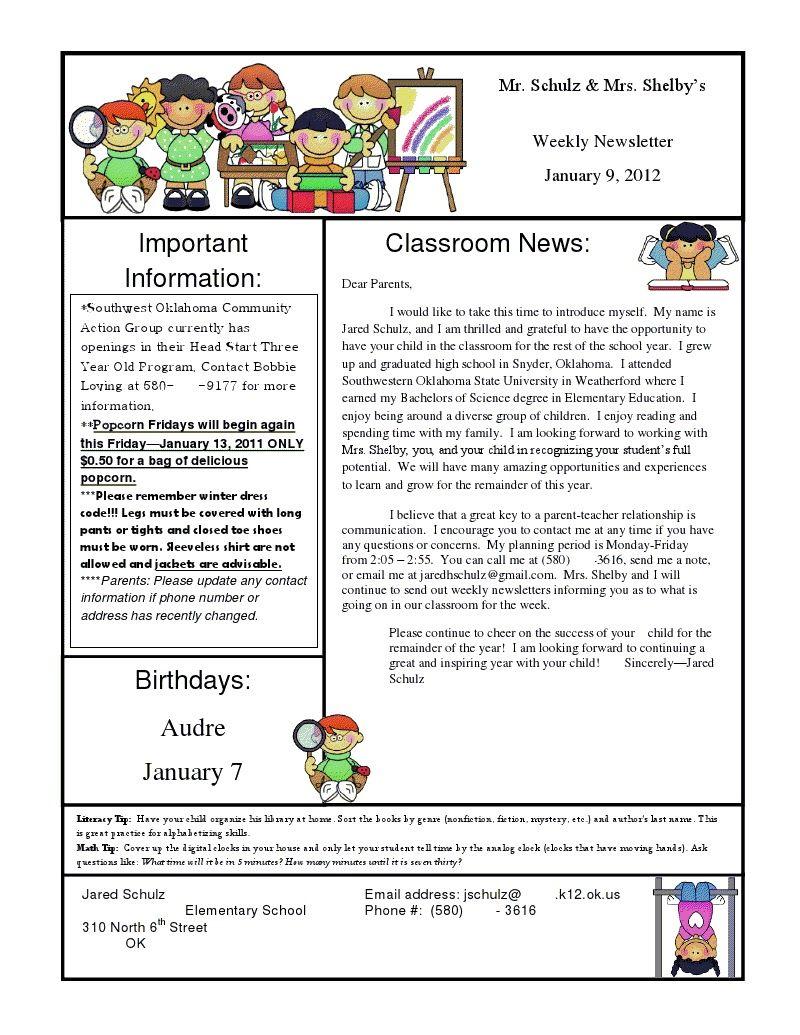 December School Newsletter Ideas | ideas aschool newsletter ideas ...