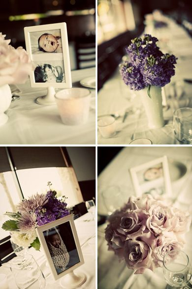 Baptism/Christening Centerpiece - Love the use of photos in ...