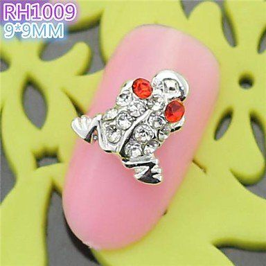 QINF 10PCS RH1009 Special Design Frog Luxury Rhinestone 3D Alloy nail art DIY Nail beauty Nail Decoration Nail Salon -- Check this awesome product by going to the link at the image.