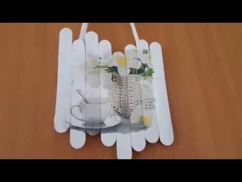 serviettentechnik auf mundspatel holz bilder zum aufh ngen t rschild youtube anleitungen. Black Bedroom Furniture Sets. Home Design Ideas