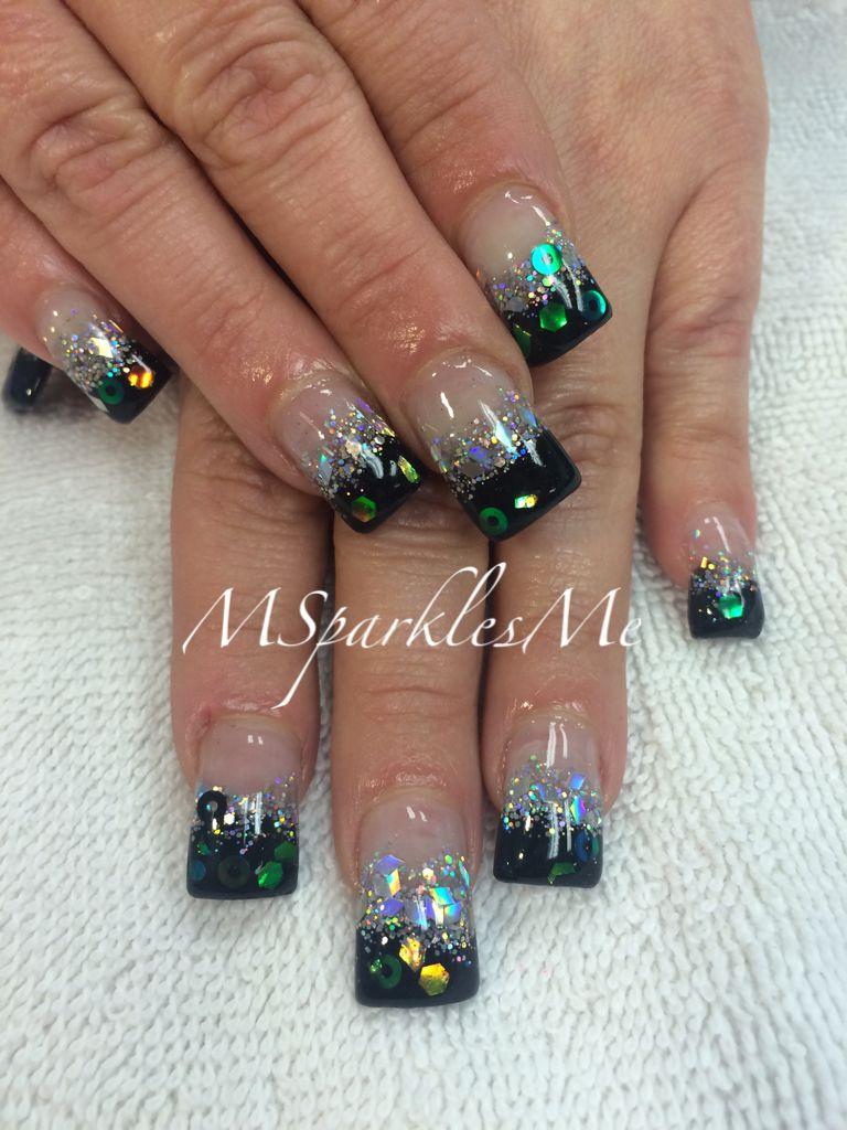 Black & silver fade nails   Nails   Pinterest   Faded nails, Glamour ...