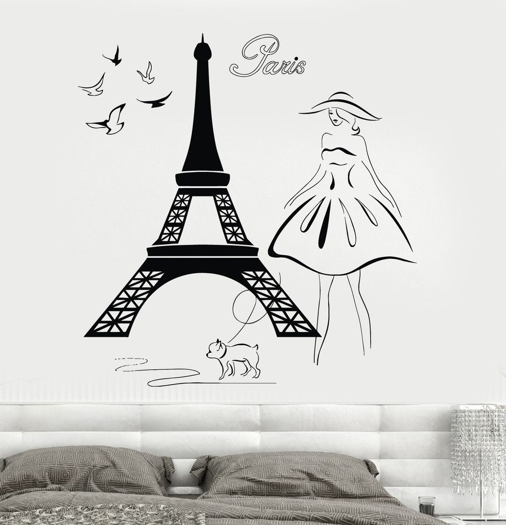 Wall decal eiffel tower paris france travel vinyl sticker unique wall decal eiffel tower paris france travel vinyl sticker unique gift z3214 amipublicfo Images