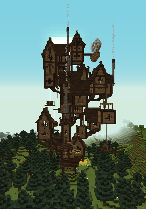 What Started Off As A Grian Inspired Tall House Has Become More And More Chaotic What Do Yo In 2020 Minecraft Blueprints Cute Minecraft Houses Minecraft Architecture