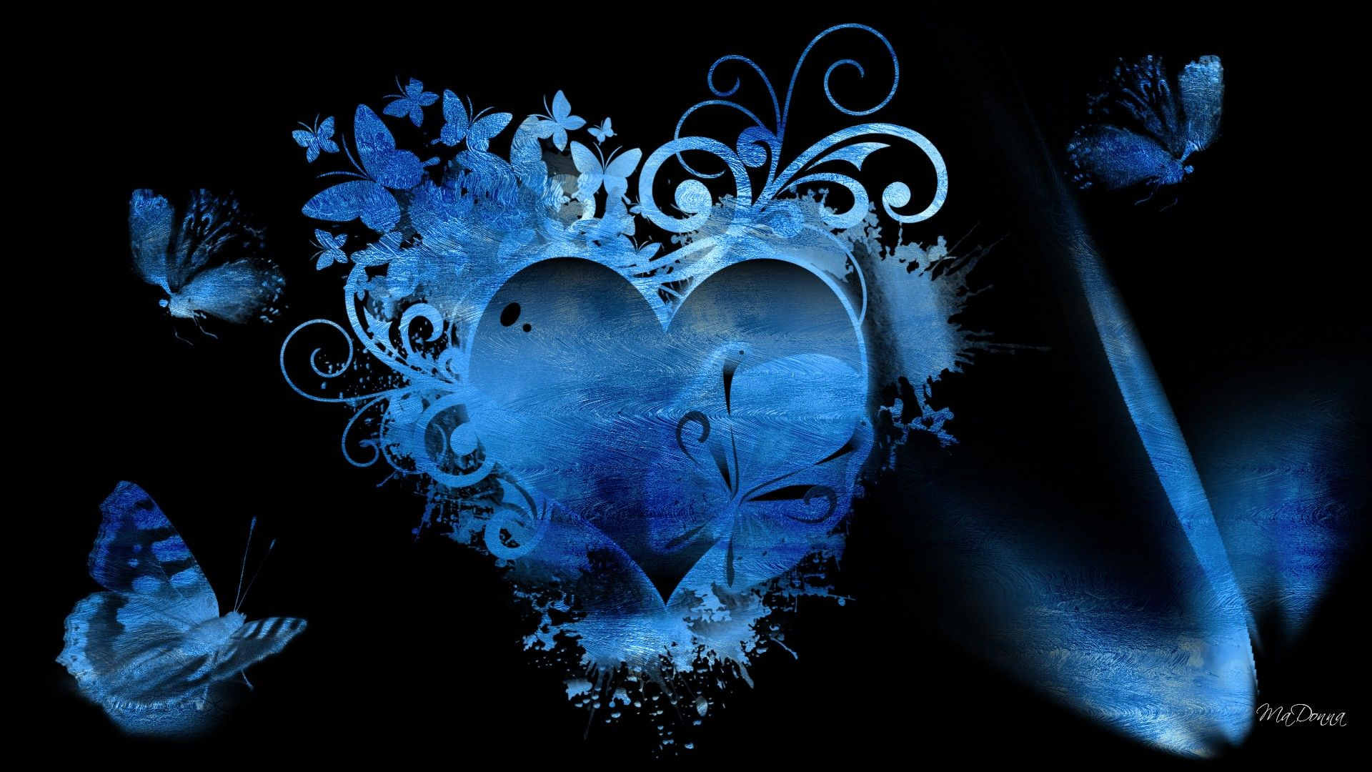 Blue Heart Wallpaper