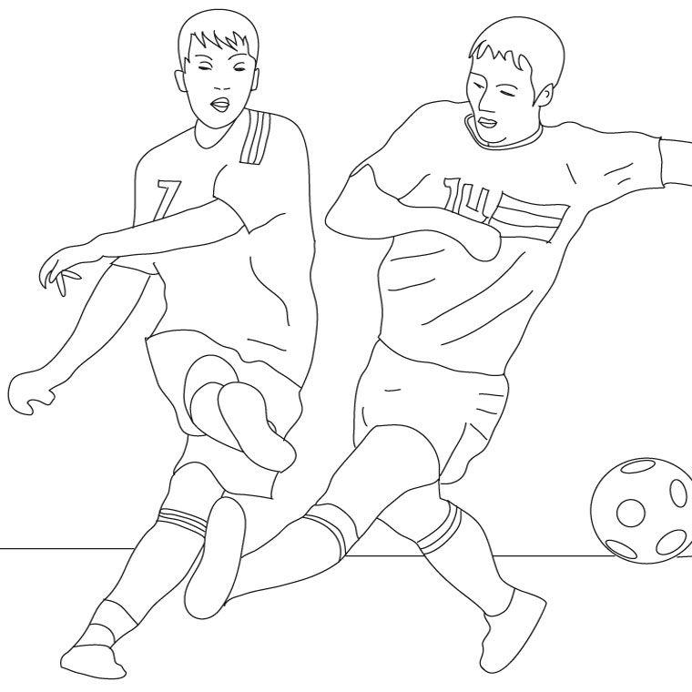 любуются картинка для раскраски футболиста смутился из-за фотографии