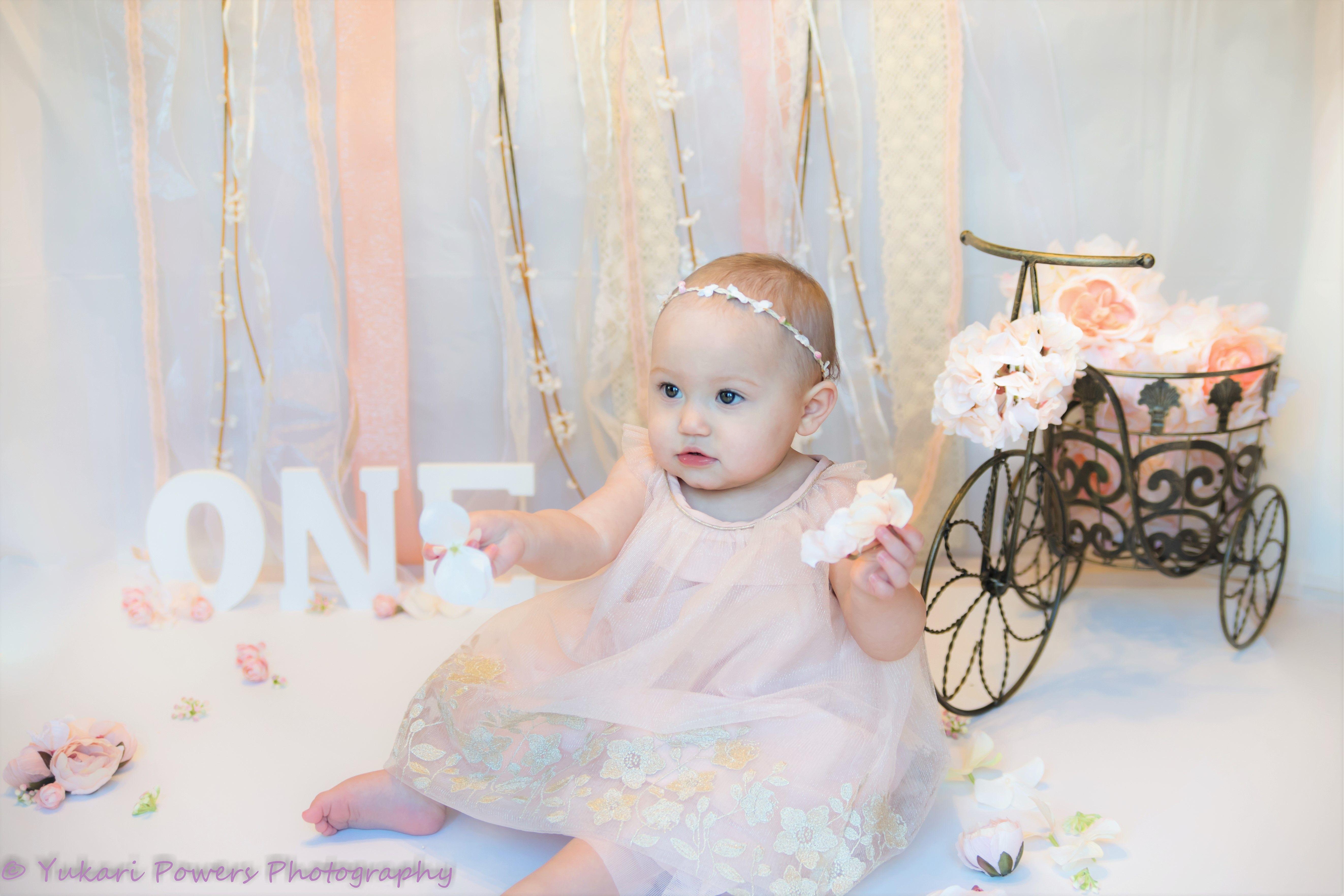 Cake Smash Photography Taken By Yukari Powers In Vancouver Washington Baby Girls First Birthday