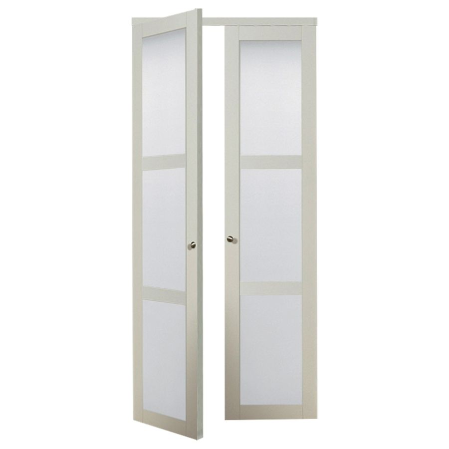 Shop Reliabilt 3 Lite Frosted Glass Pivot Interior Door Common 36 In X 80 In Actual Pivot Doors Doors Interior White Interior Doors