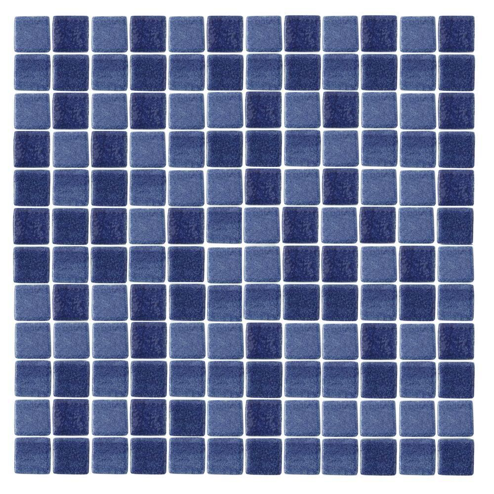 Epoch architectural surfaces spongez s dark blue 1411 mosaic epoch architectural surfaces spongez s dark blue 1411 mosaic recycled glass 12 in x 12 in mesh mounted floor wall tile 5 sq ft dailygadgetfo Gallery