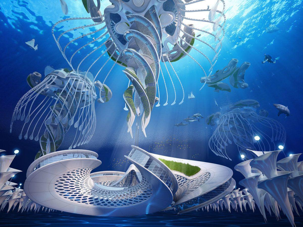 未来の都市は海に浮かぶ 建築家が想像した オーシャンスクレイパー