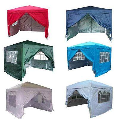 New Waterproof 10 X 10 Ez Pop Set Up Canopy Tent Gazebo W 4 Walls