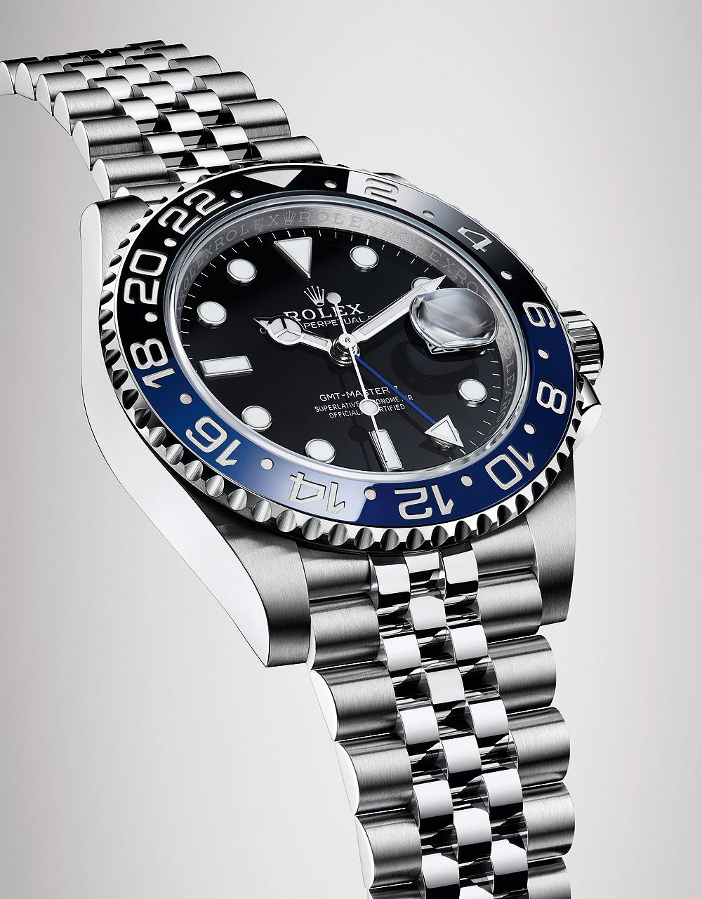 Batman Returns Rolex Launches Gmt Master Ii With Black And Blue Bezel And Jubilee Bracelet Rolex Gmt Master Ii Rolex Gmt Rolex Gmt Master