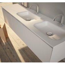 Bed 2 Double Basin Vanity Top Corian® Square + Furniture   Bathroom ...