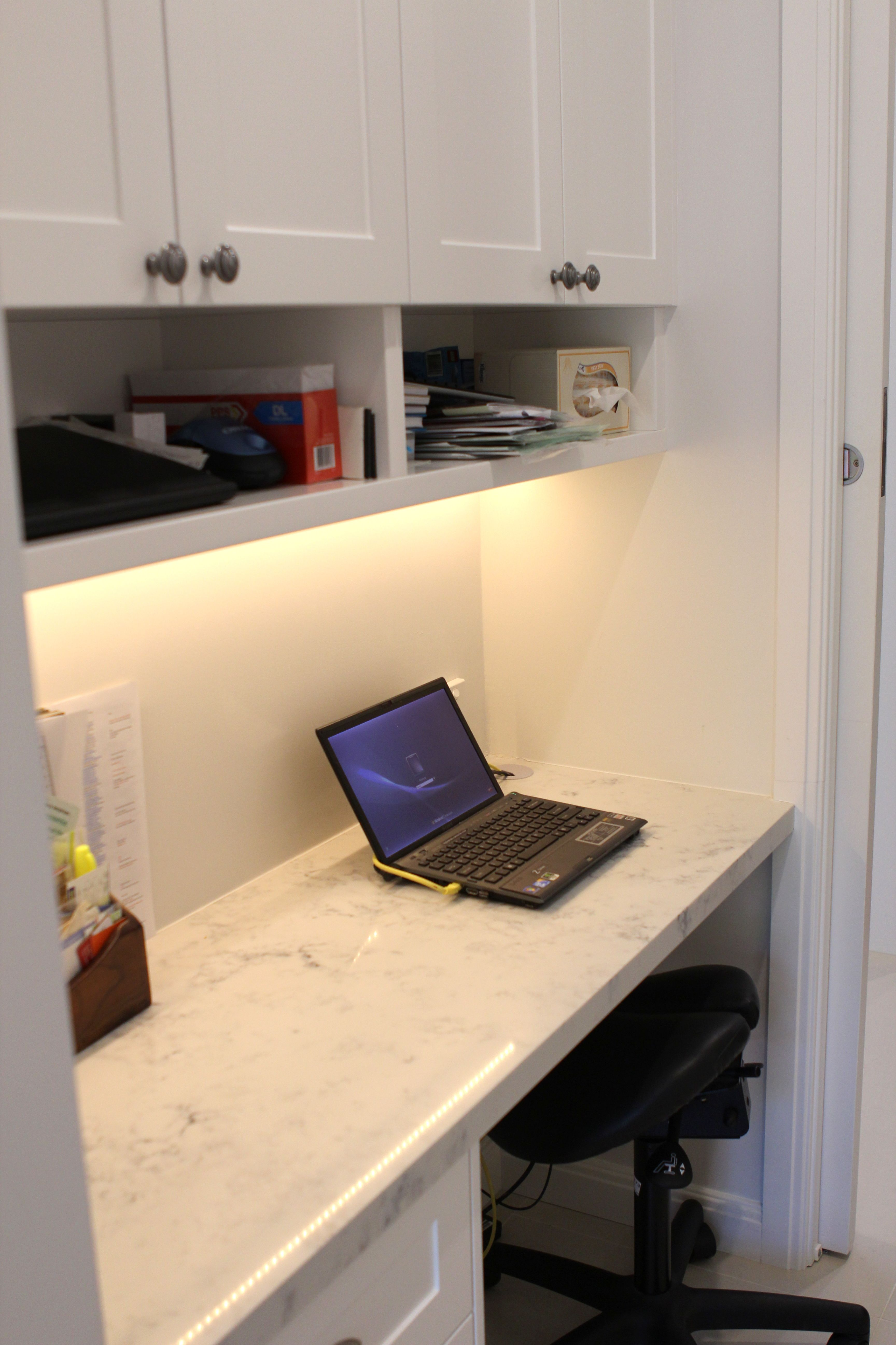 Mum S Study Nook Built In To Integrate With Laundry Area Off Butlers Pantry Close Enough To The Action To Put Your Head Around The C Study Nook Kitchen Ideas New House