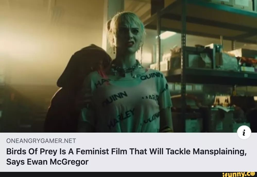 Oneangrygamer Net Birds Of Prey Is A Feminist Film That Will Tackle Mansplaining Says Ewan Mcgregor Ifunny Birds Of Prey Ewan Mcgregor Conor Mcgregor Memes