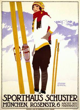 Sporthaus Schuster Munich ski poster
