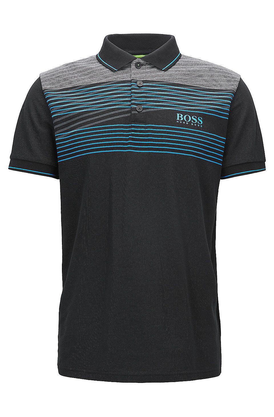 Cotton Blend Polo Shirt, Regular Fit | Paddy Pro. Cotton Blend Polo Shirt,  Slim Fit | Paddy Pro Black from BOSS Green ...