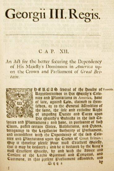 The Declaratory Act Was Created After The Repeal Of The Stamp Act