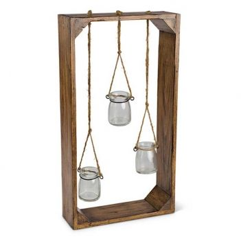 Perfect for apartment dwellers, dorms, and those without yards. These miniature glass vials hung from twine (included) allow you to create your own personal garden. Go on, bring the beauty of the outdoors inside!