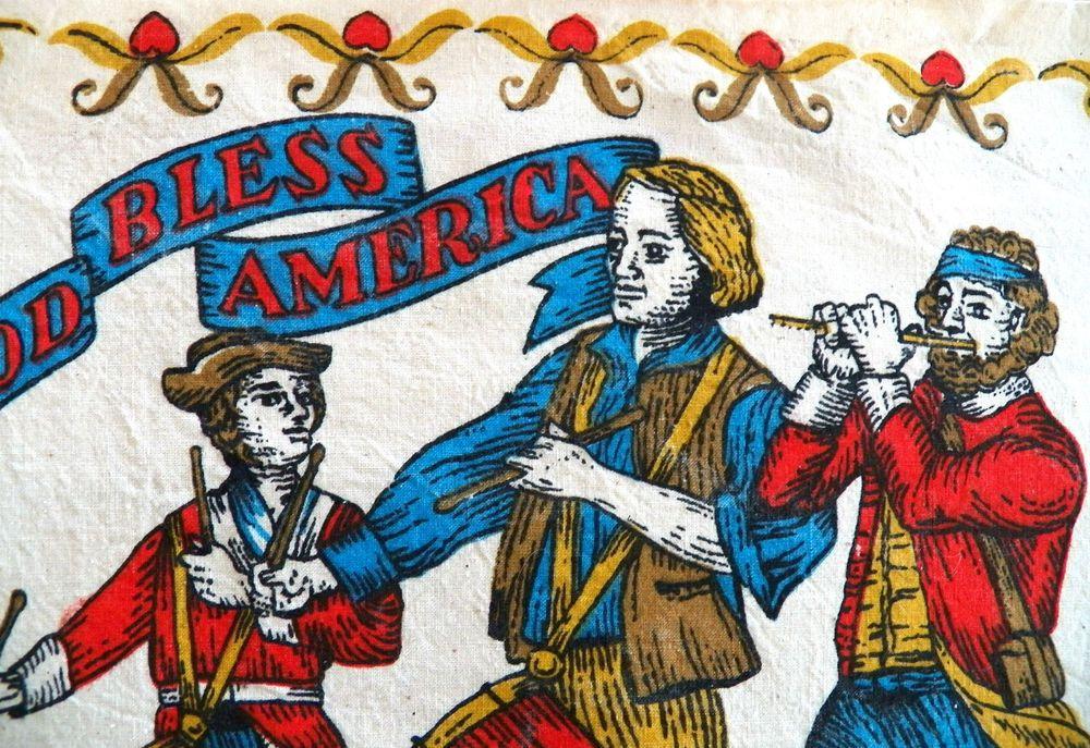 Vintage 1976 Linen CalendarTowel-Bi-Centennial-Patriotic-Great cond.-Project??