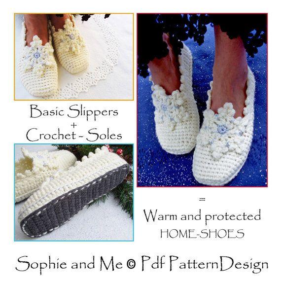 2 en 1-patrón PACK para zapatillas de copo de por PdfPatternDesign ...