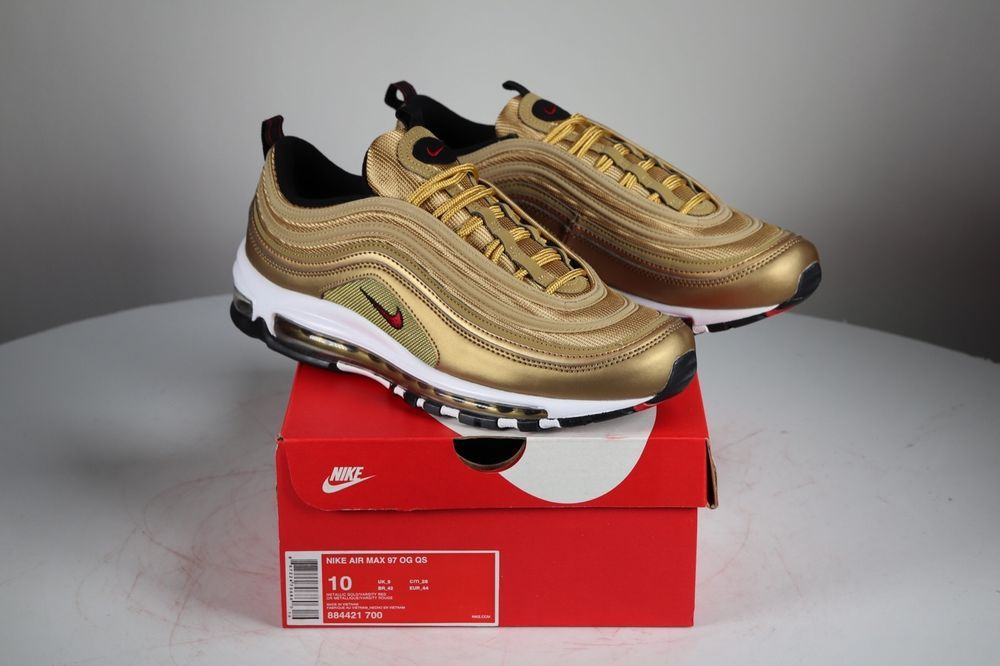 Nike Air Max 97 OG Gold 100 Authentic 884421 700