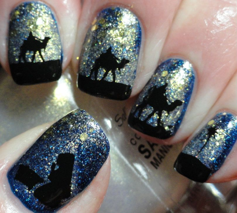 Christmas Scene - Stamping Images - Messy Mansion Plate MM01 | Nail ...