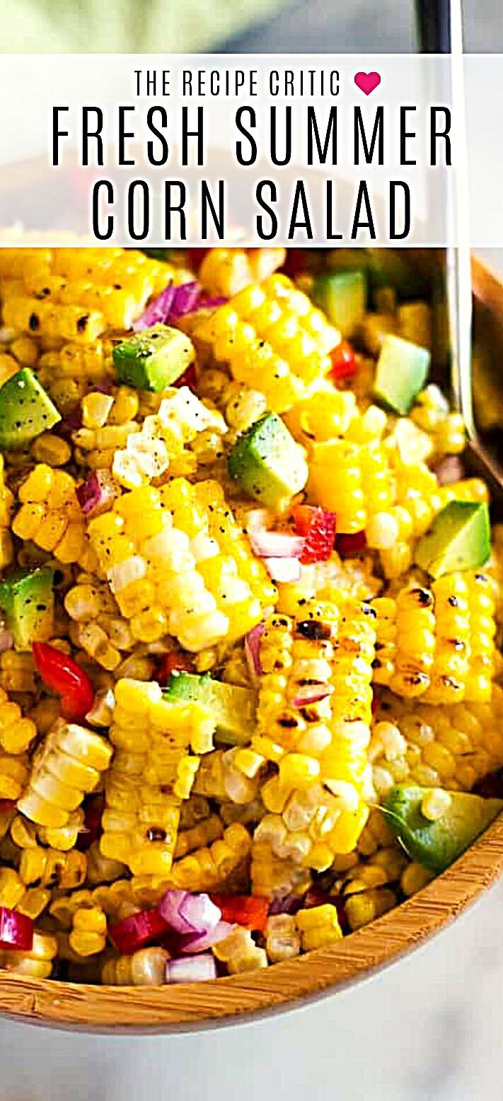 - Summer Corn Salad definitely can (and should be!) enjoyed all year round!  It's a fresh corn salad...