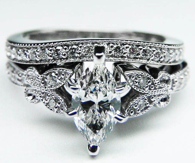 Marquise Diamond Erfly Vintage Engagement Ring Setting I Just Like The Erflies