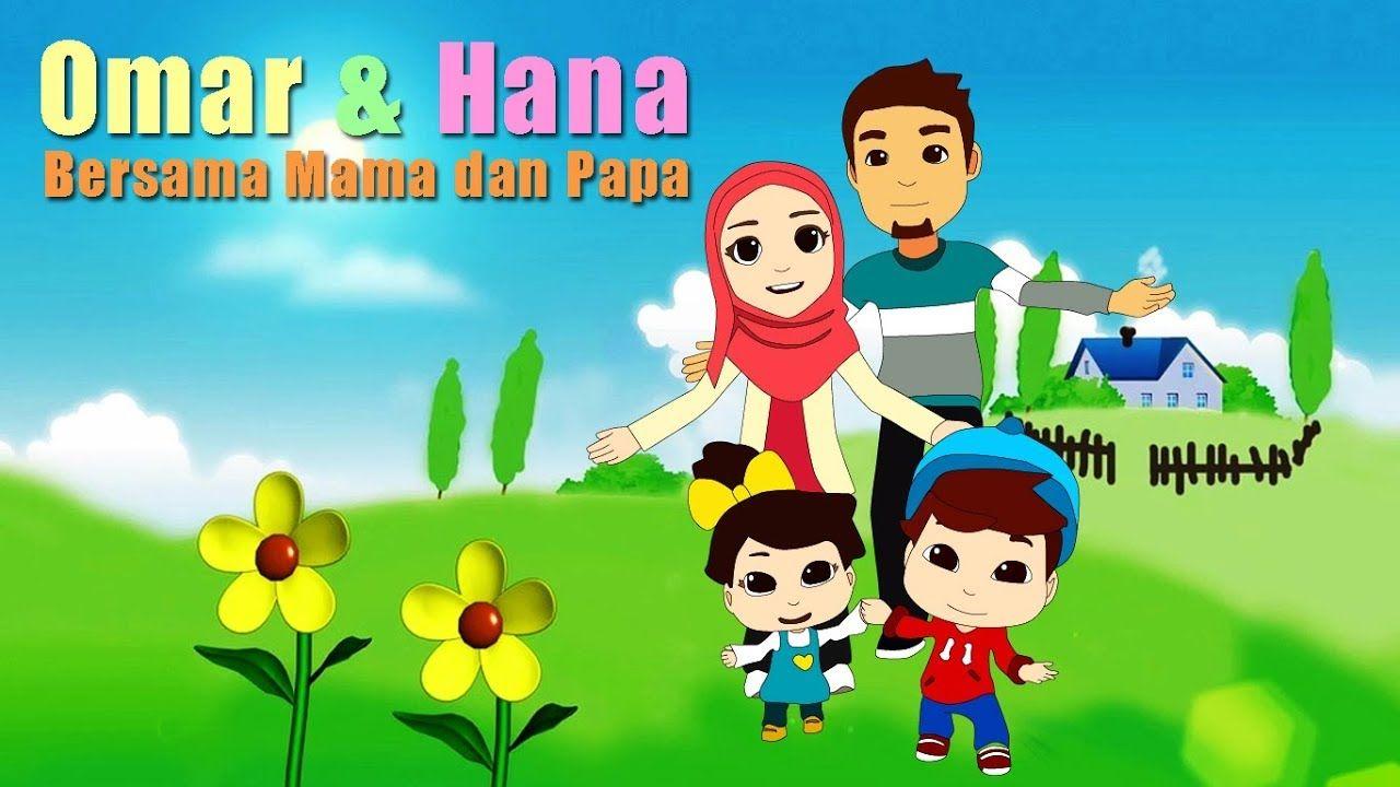 Omar Dan Hana Bersama Papa Mama Menggambar
