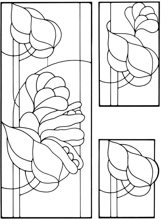Art Nouveau Stained Glass Pattern Book | stained glass | Pinterest ...