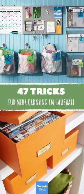 47 tricks f r ordnung im haus ordnung organisieren aufraeumen haushalt sortieren zuhause. Black Bedroom Furniture Sets. Home Design Ideas