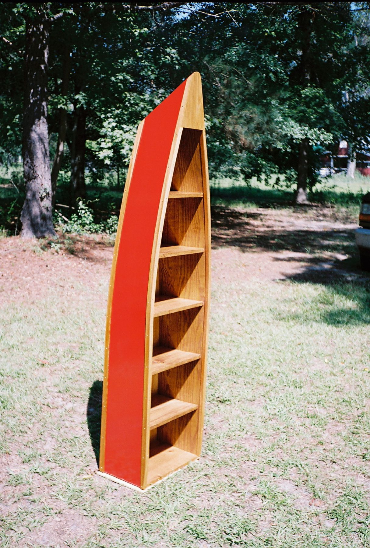 Handcrafted Boat Bookcase Boat Shelves 6 1 2ft Canoe Shelf Home Decor Boat Bookcase Bookcase Lake House Interior