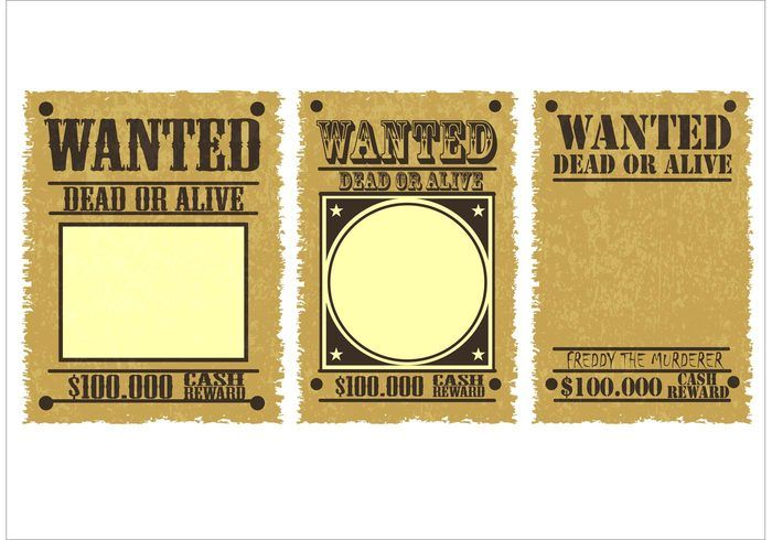 Wanted Poster Vectors TRIBAL➽DiGi SCRAP➽NATiVE AMERiCAN INDiAN - free printable wanted poster