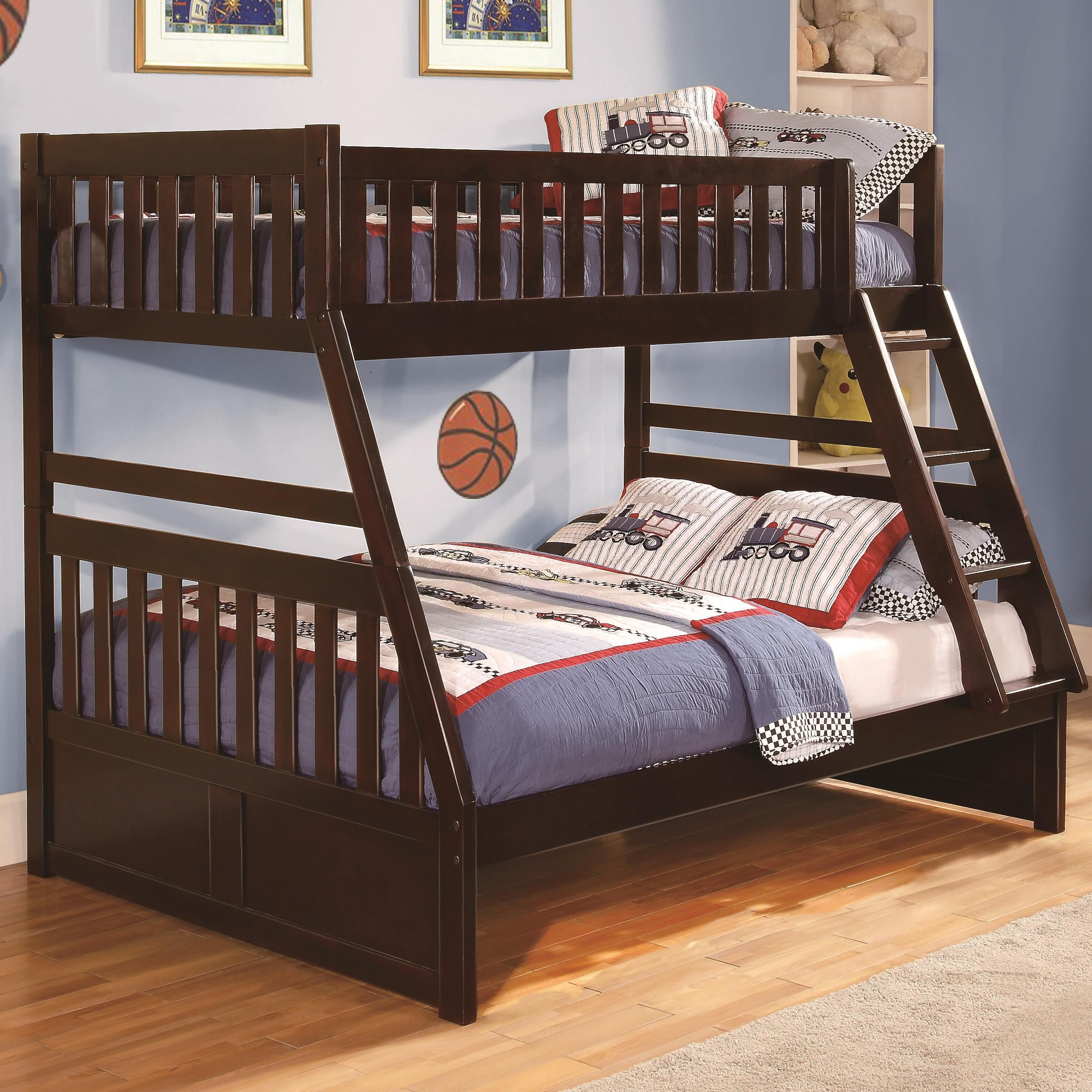 Rowe Casual Twin Over Full Bunk Bed By Homelegance At Darvin Furniture Bunk Beds Twin Full Bunk Bed Bunk Bed With Trundle