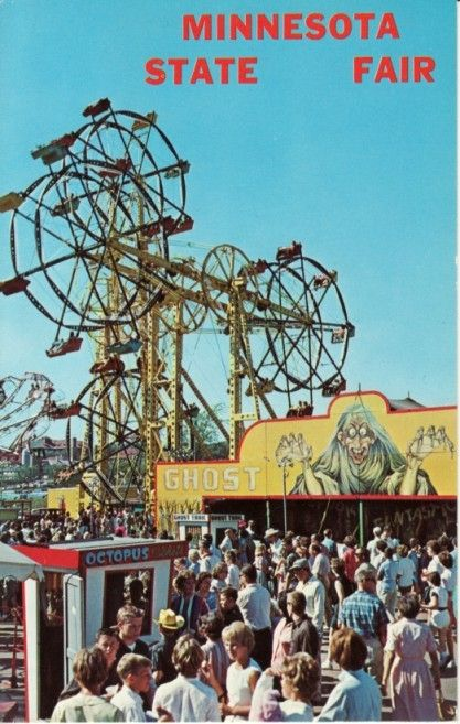 Two Double Ferris Wheels At The Minnesota State Fair I Wish They