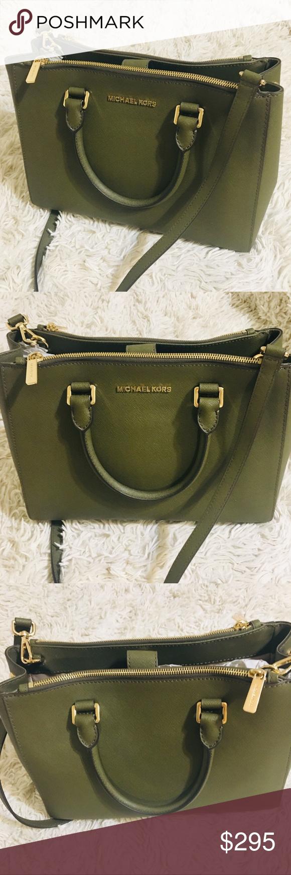 d49623547d NEW Michael Kors Tote Olive Green w/ Dust Bag Incredible MK shoulder bag  with detachable