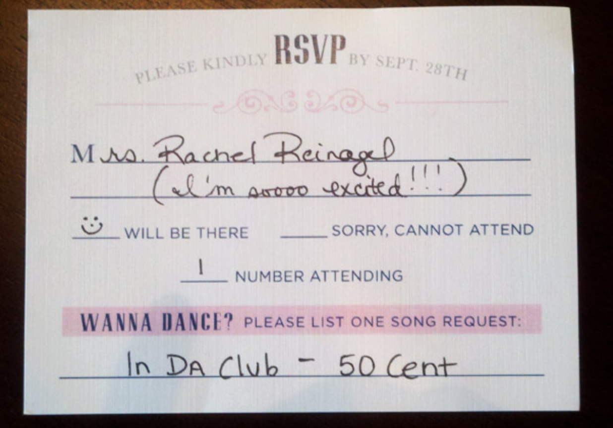 How To Fill Out A Wedding Rsvp.Genius Idea Have A Song Request Line On Your Wedding Rsvp Cards