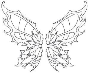 Sugar Plum Fairy Wings Wing Pair Image Fairy Coloring Pages